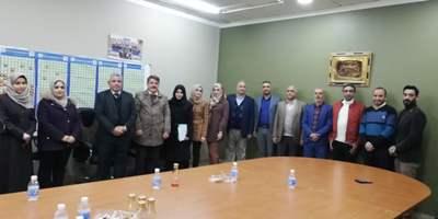 زيارة اللجنة الامتحانية في قسمي هندسة المواد والهندسة المدنية